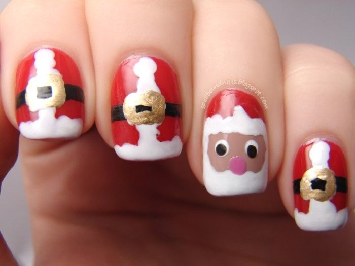 Christmas nail art designs that you can try nail designs nails nailart nail art polish mani manicure spellbound merry christmas holiday santa suits suit face red white wet n wild i red a good book prinsesfo Choice Image