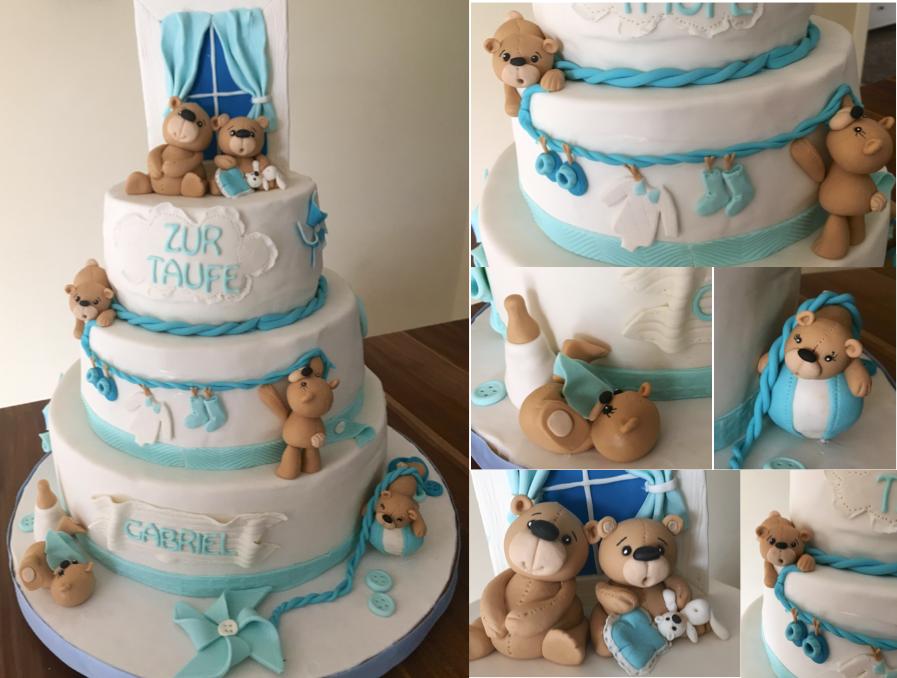Taufe Fondant Torte Junge christening boy fondant cake