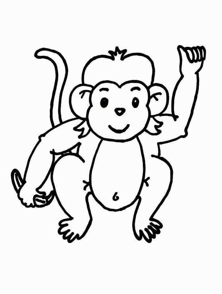 monkey coloring sheet - Monkey Coloring Sheet