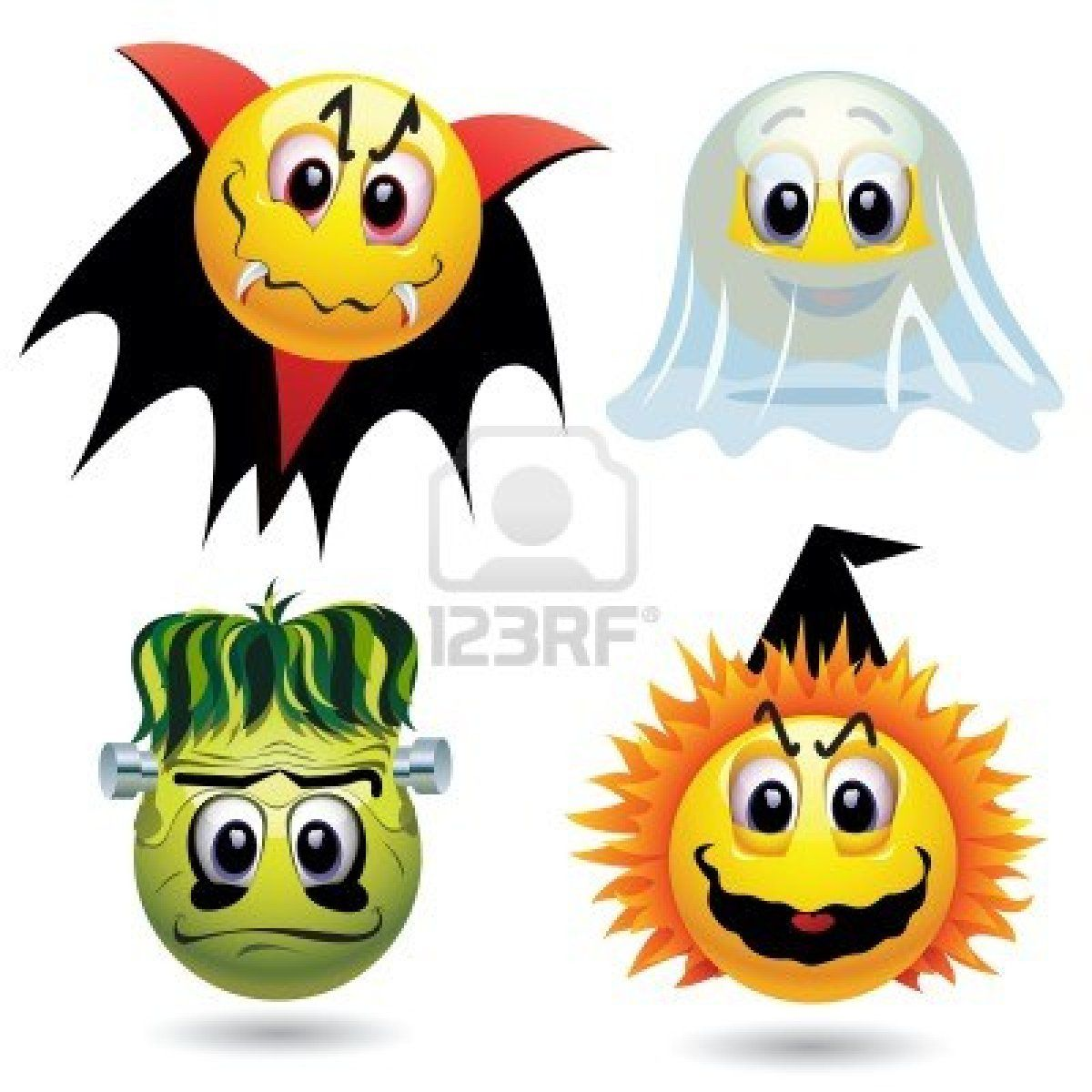 Stock Vector Halloween masks, Smiley, Halloween