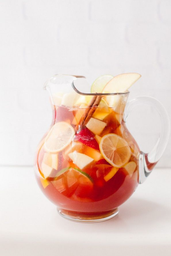 This festive Autumn Apple Rosé Sangria is bubbly just the right amount of sweet and perfect for your Thanksgiving or other fall celebrations!