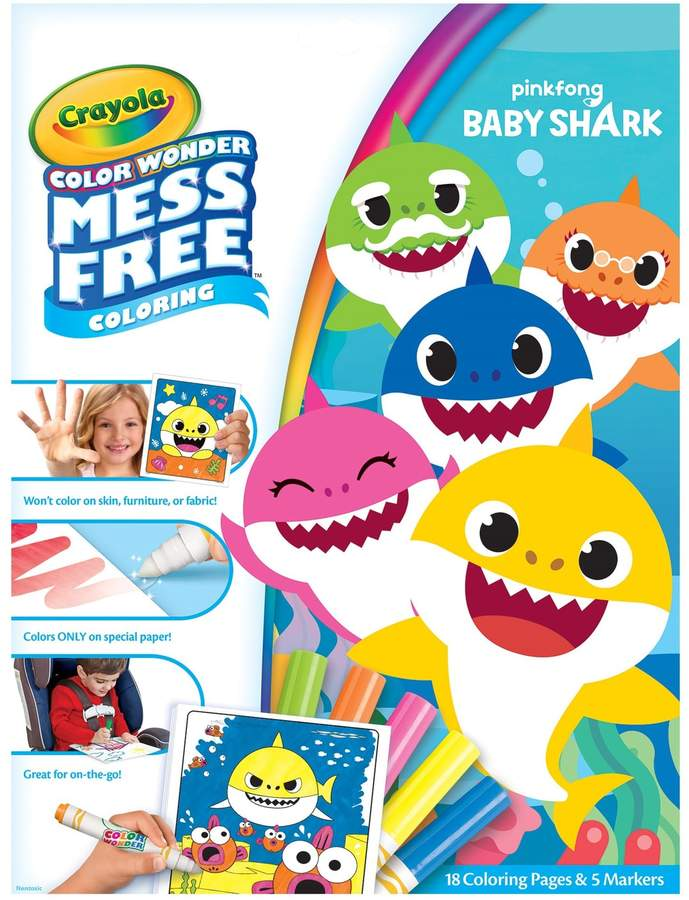 Crayola Color Wonder Baby Shark Mess Free Coloring Pages Free Coloring,  Shark Coloring Pages, Free Coloring Pages