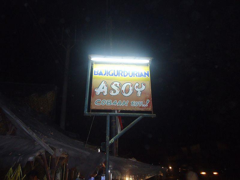 "Bajigur Durian ASOY ""COBAAN"" euy"