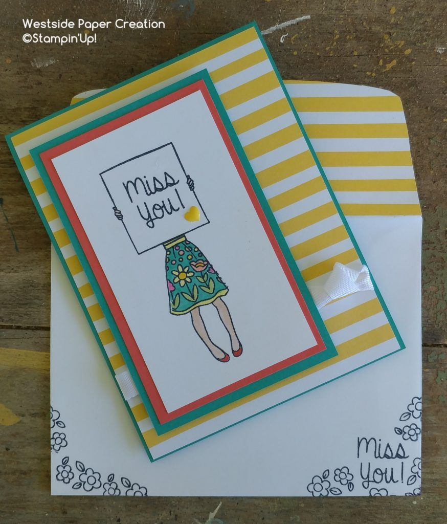 Miss you card using the all new Hand Delivered Stamp Set by Stampin' Up!