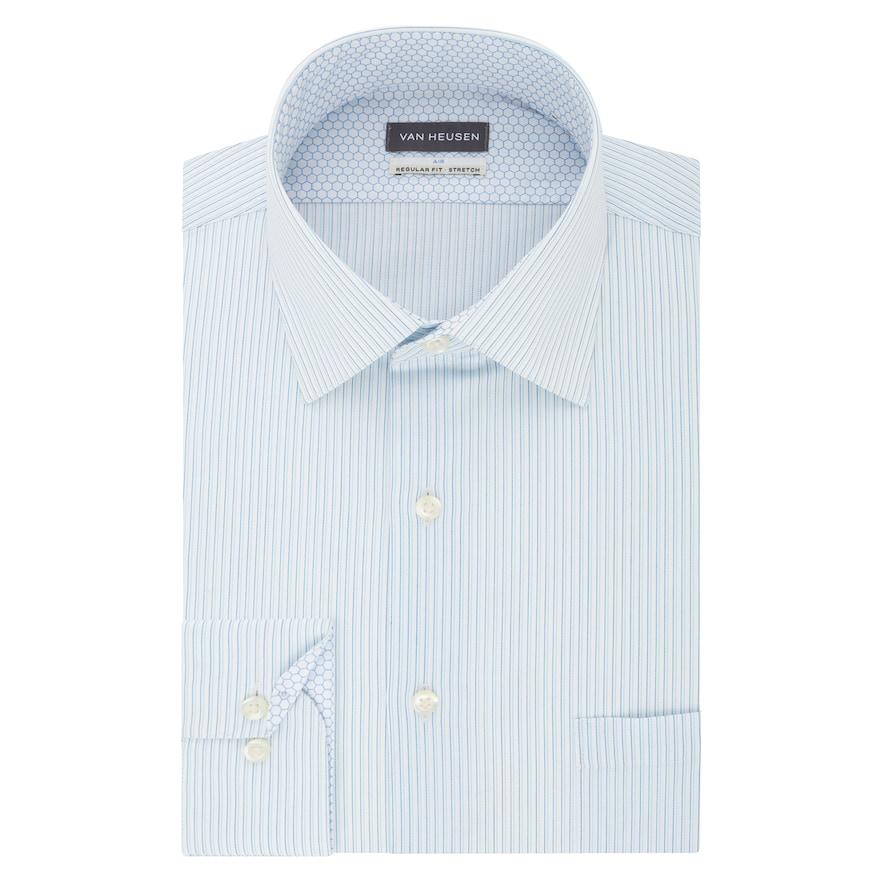 Men S Van Heusen Air Regular Fit Stretch Dress Shirt Shirt Dress Traditional Sleeve Stretch Fabric