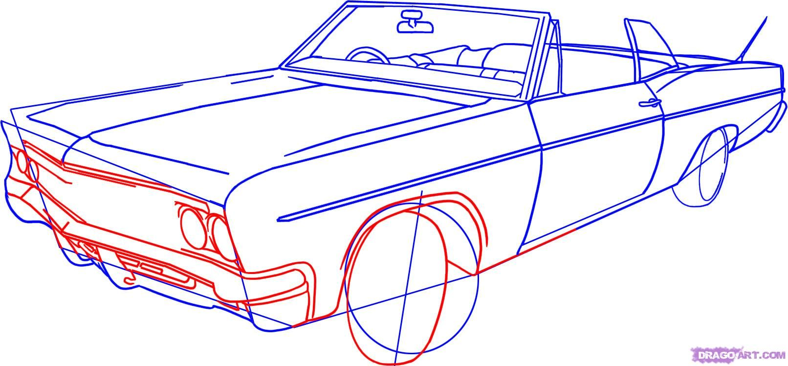 How To Draw A Lowrider Step By Step Cars Draw Cars Online Transportation Free Online Drawing Tutorial Added By D Car Drawings Lowrider Drawings Lowriders