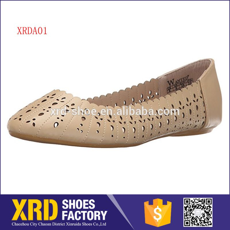 64457b68cbe Brand lady leather flat shoes laser cut casual women shoes