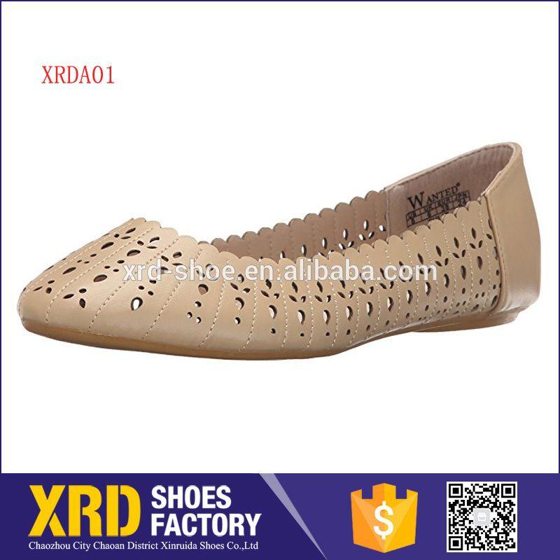 1e6cbf06d5d4 Brand lady leather flat shoes laser cut casual women shoes