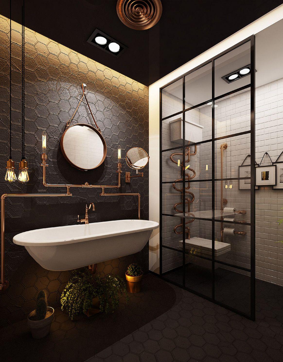 Zehn Nachteile Des Industriellen Designs Badezimmer Und Wie Sie Es Umgehen Konnen Badezim Industrial Style Bathroom Bathroom Design Inspiration Retro Bathrooms