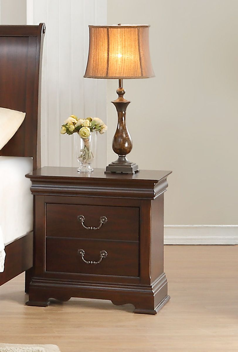 Homelegance Clematis Night Stand - Cherry in 2020 ...