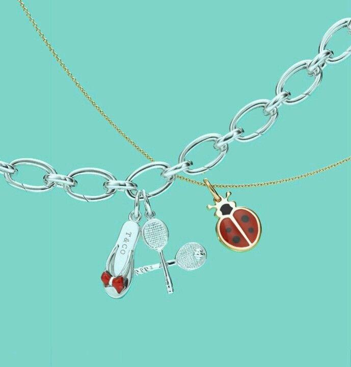 Silver charm bracelet from Tiffany's