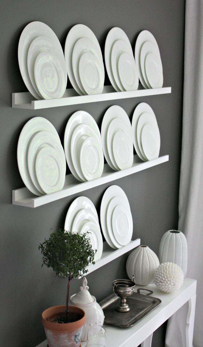 Decor With Monochrome Plates Vintage Prairie Style Out Of The Cupboard