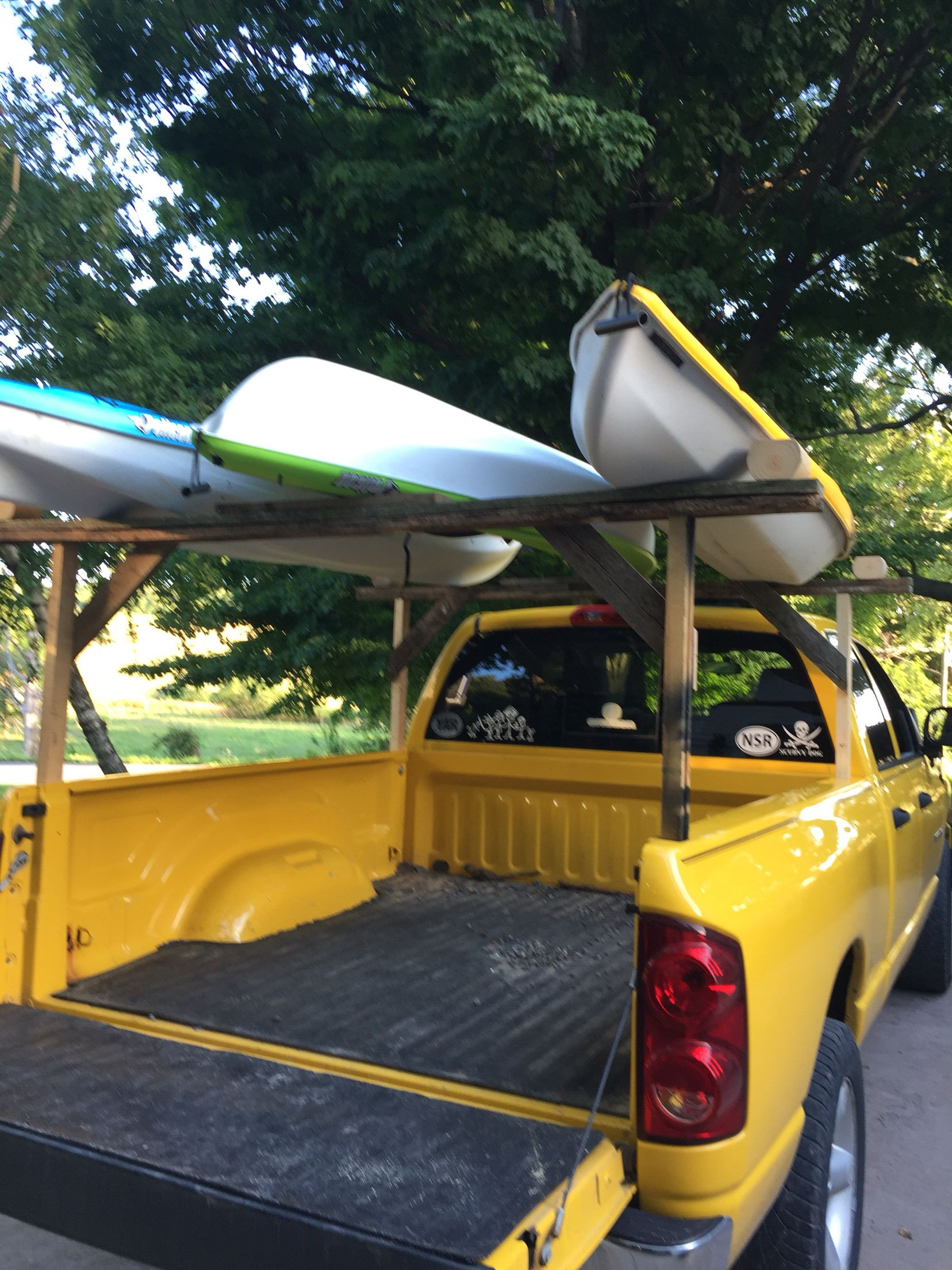 Diy Kayak Rack On The Cheap Spent 1 84 On Hardware So