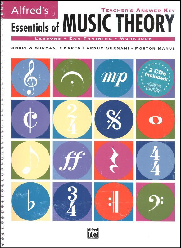 Essentials Of Music Theory Answer Key And Ear Training Cds Music Theory Lessons Music Theory Music Theory Pdf