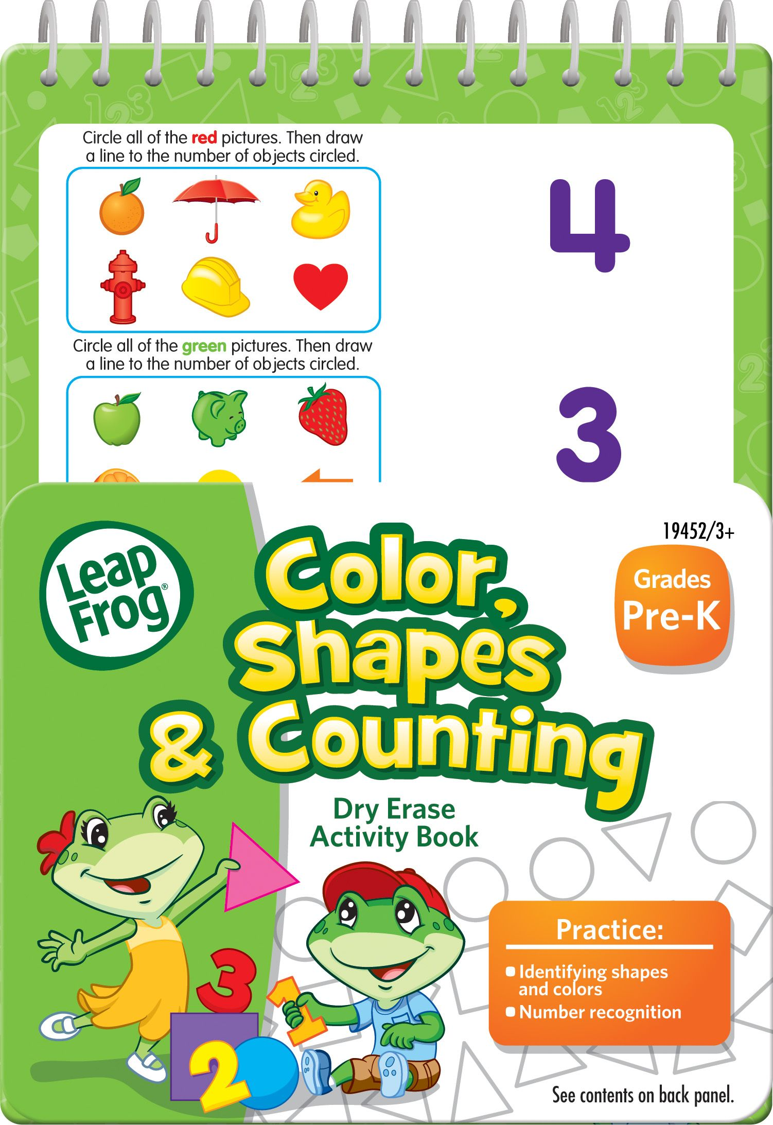 The Leapfrog Numbers Mini Dry Erase And Spiral Bound Activity Workbook Reinforces Key Skills