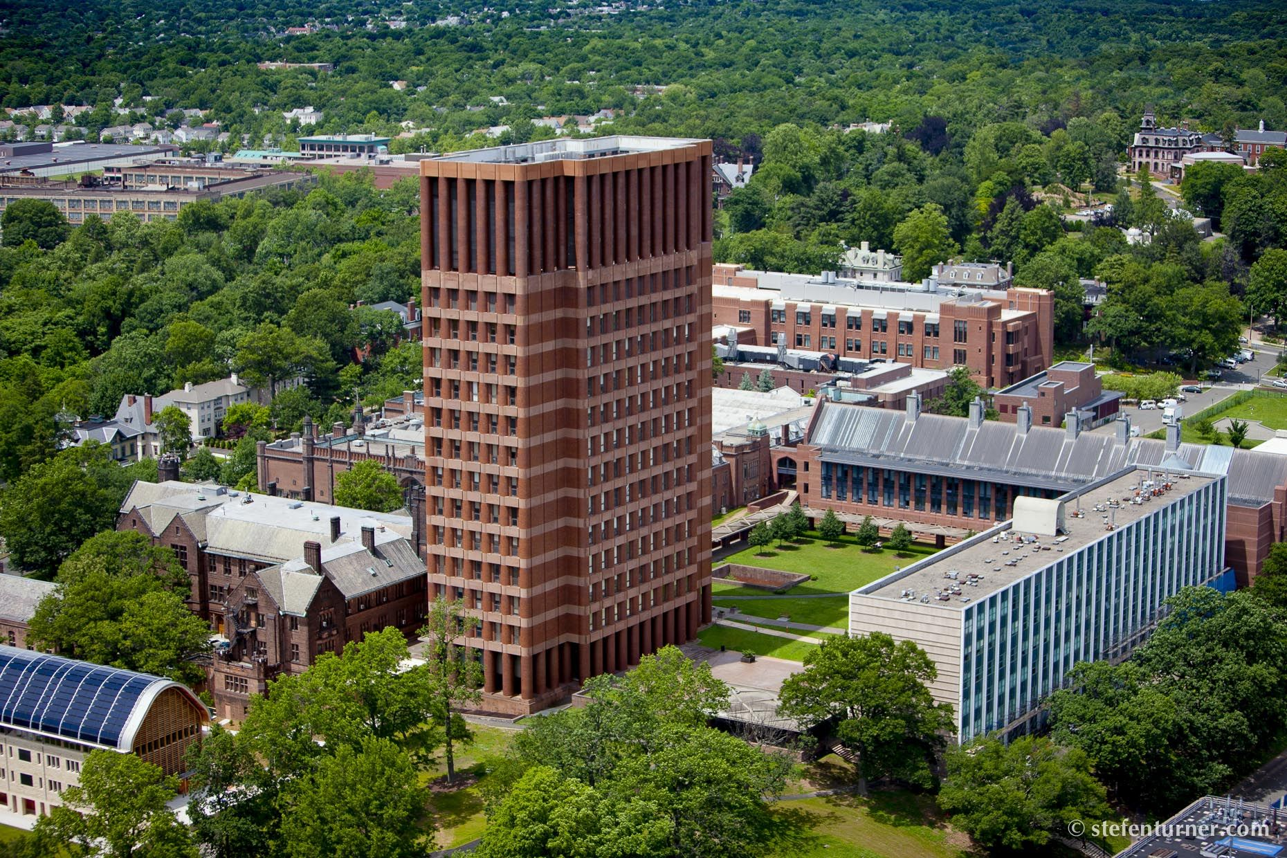 Aerial Photography Of Yale University Kline Biology Tower In New