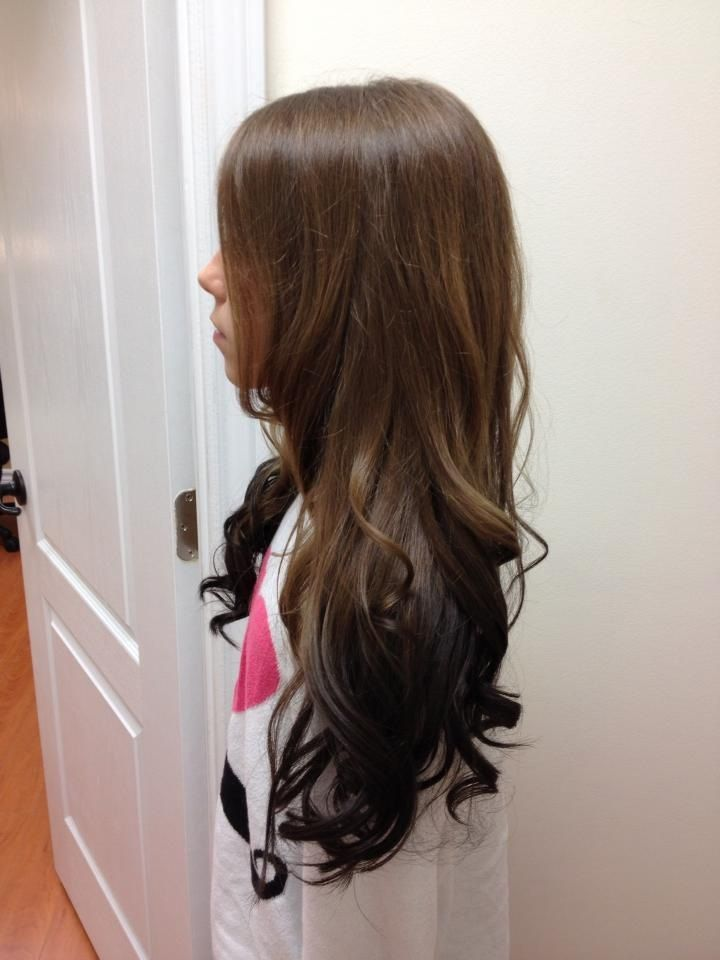 Another reverse ombre starting with the natural hair color ...