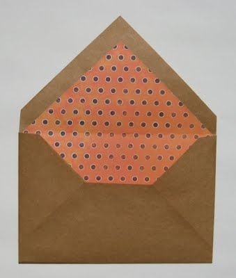 Easy Envelopes for Handmade Cards: It's easy to make custom envelopes for your handmade cards — perfect for those non-traditional sizes!  You can get creative with unique papers and decorative liners, too.  Kids will catch on quick since they don't even need to measure their paper.… they just need to understand the concept of starting with a square that's a little bit larger than the card.