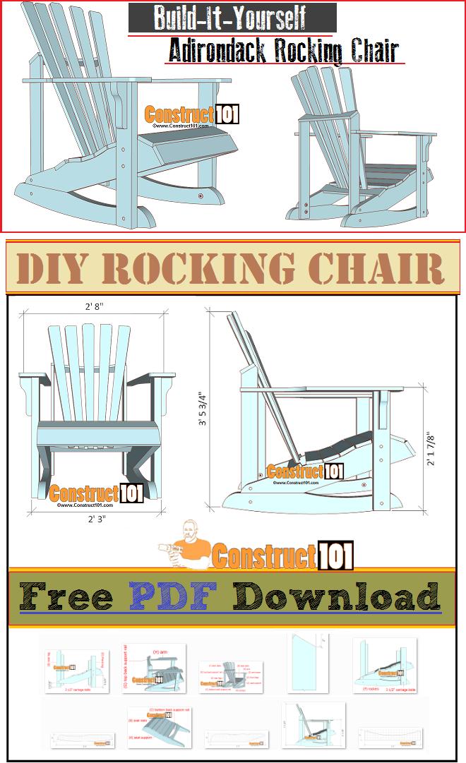 Adirondack Rocking Chair Plans Pdf Download Woodworking