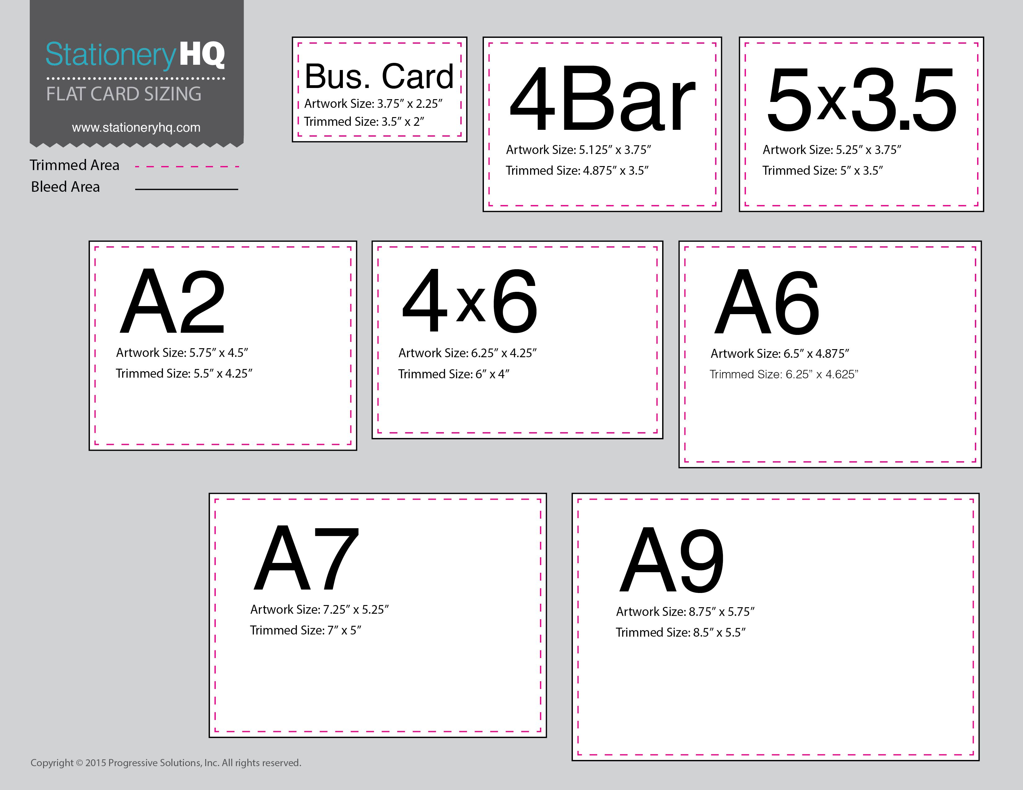 We Ve Gotten Requests For Flat Card Sizes At A Glance Click Here For A Downloadable Pdf For Ea Standard Card Sizes Wedding Invitation Size Thank You Card Size