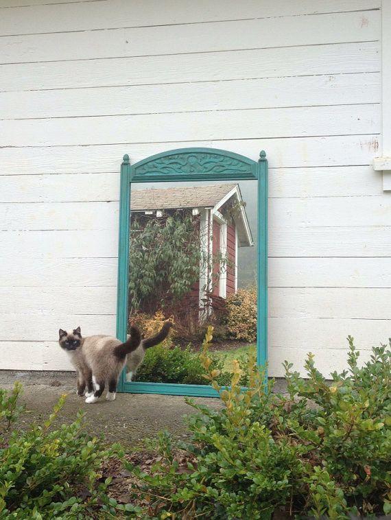 Turquoise Farm House Dresser Mirror