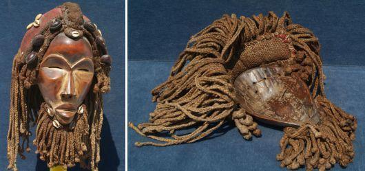 Gesichtsmaske der Dan - Stammeskunst