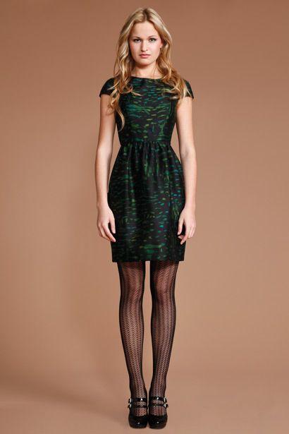 Shoshanna Enchanted Forest Print Antonia Dress