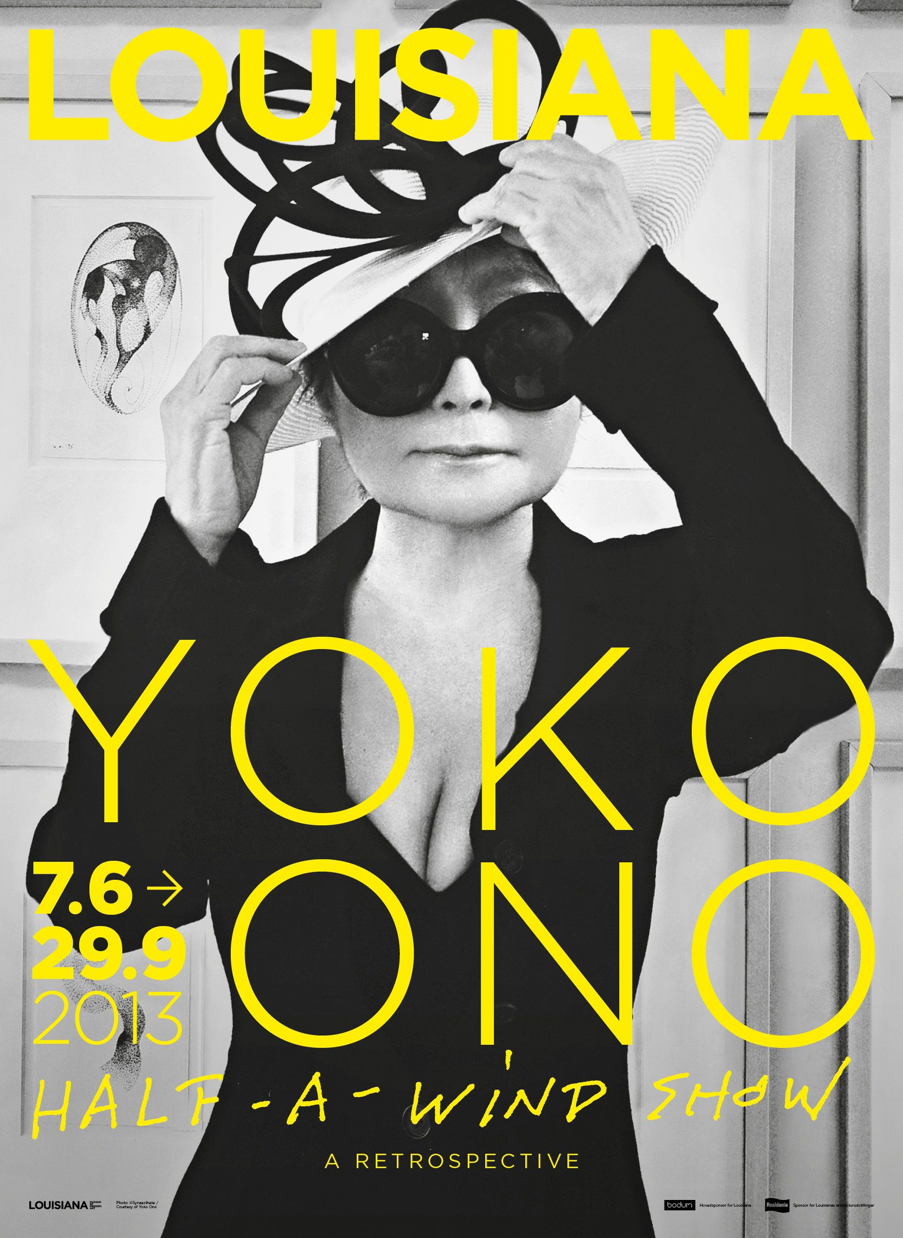 Yoko One Half A Wind Show Louisiana Museum From 7 6 29 9 2013 Museum Poster Exhibition Poster Yoko Ono