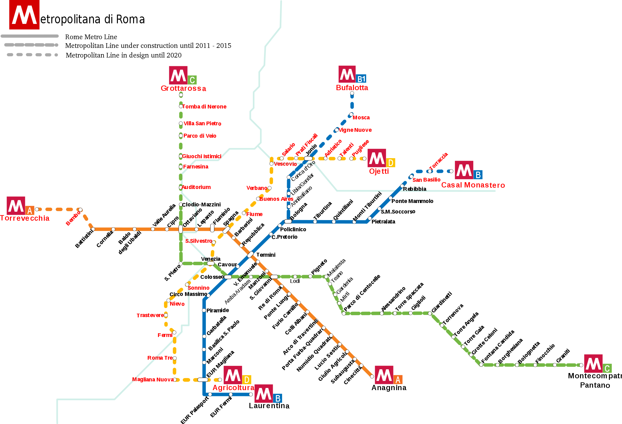 Metro De Roma Mapa.Metro De Roma Metros Undergrounds And Subways Maps