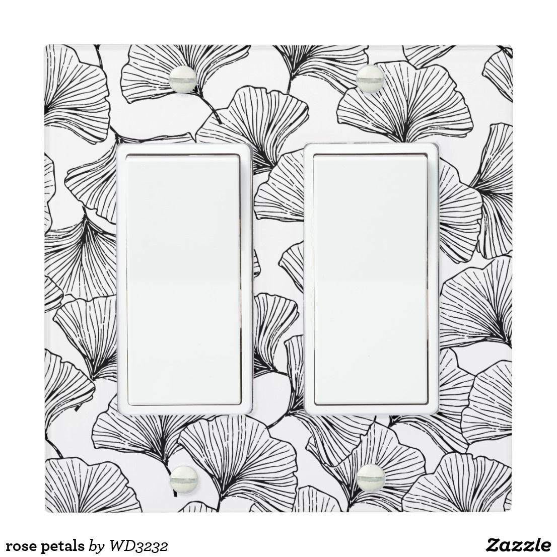 Rose Petals Light Switch Cover