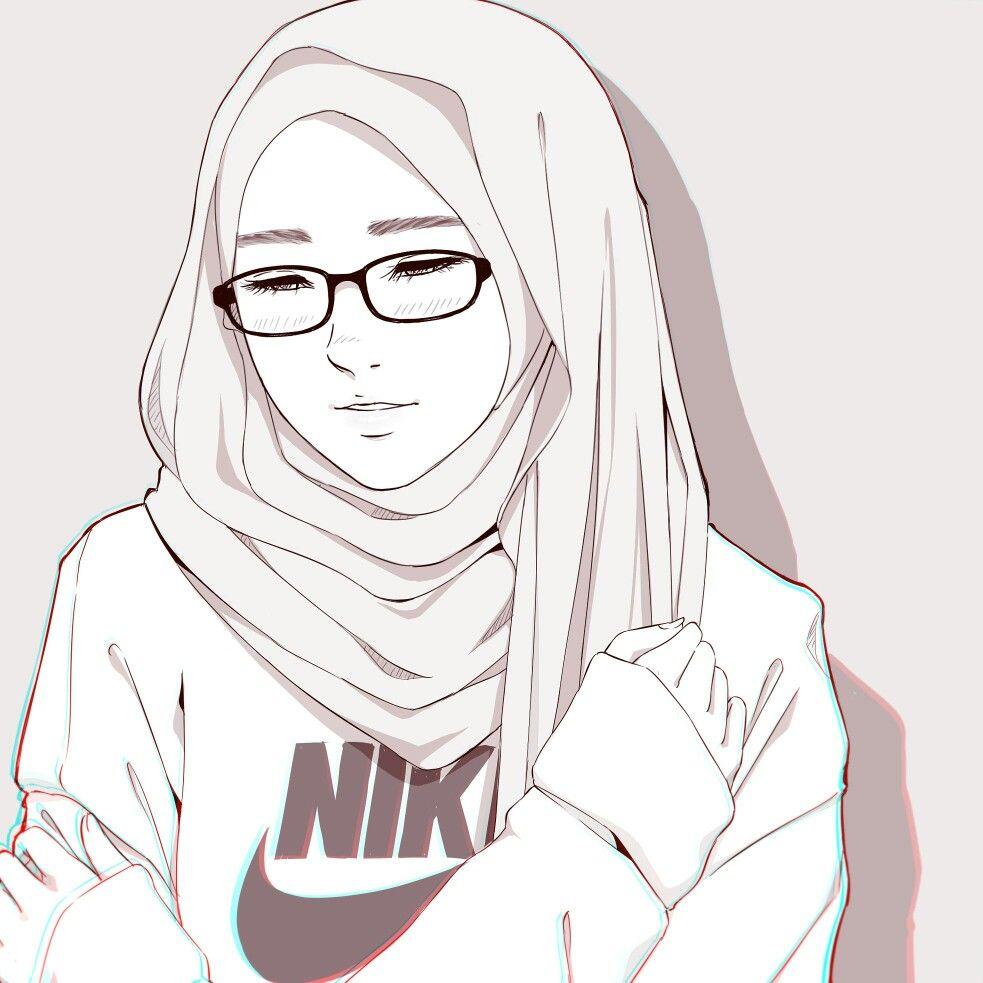 Just A Doodle In Ramadhan2017 Artwok Anime Drawing Kartun Gambar Pejuang Wanita