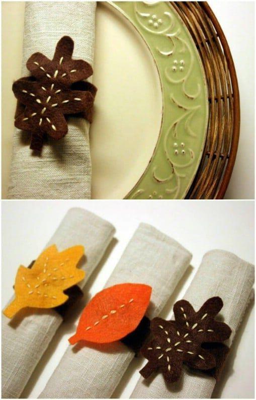 25 DIY Napkin Rings That Will Dress Up Your Thanksgiving Dinner Table,  #Dinner #DIY #Dress #... #napkinrings