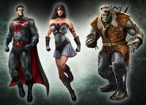 Injustice Gods Among Us Red Son Trailer Batman Wonder Woman Superman Red Son Superhero