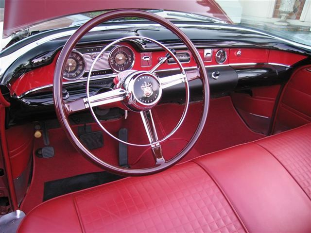 1954 Buick Skylark steering wheel and dash