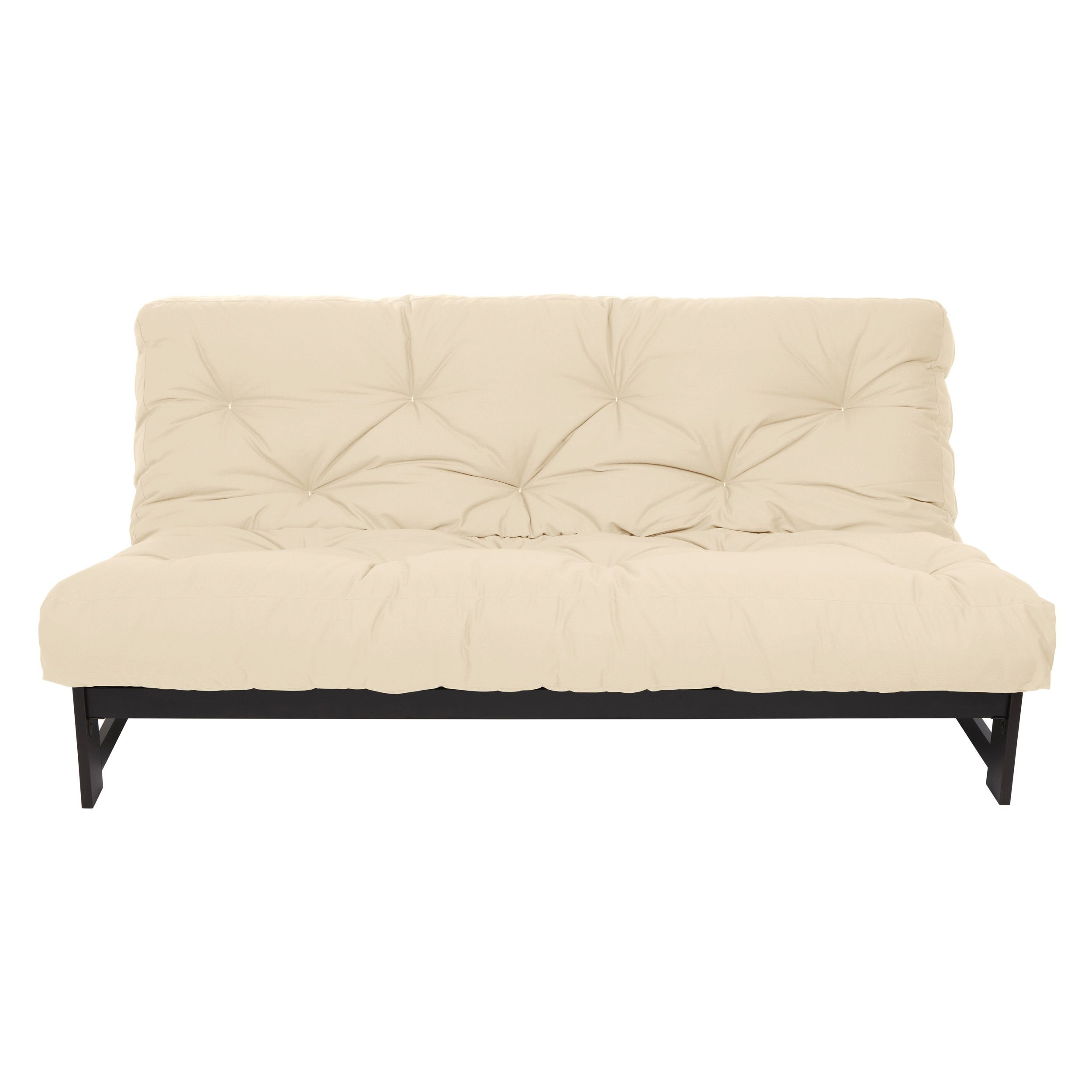 Queen Size Ivory 10 Inch Dual Gel Futon Mattress Osfs5403 Beige Off White