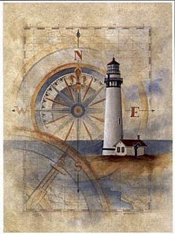 Старинные открытки маяк