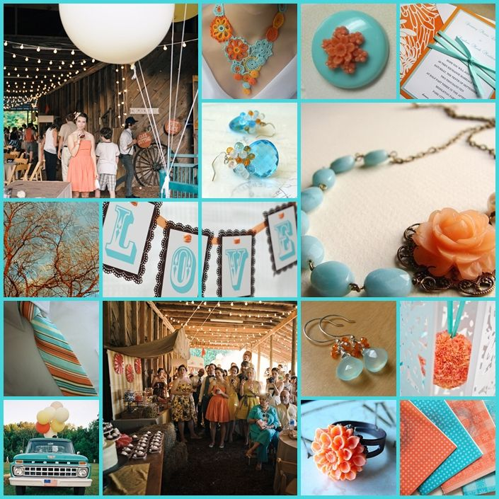 Burntorangeturquoisebrownweddingcolors Cant Fight This - Burnt orange and green wedding colors