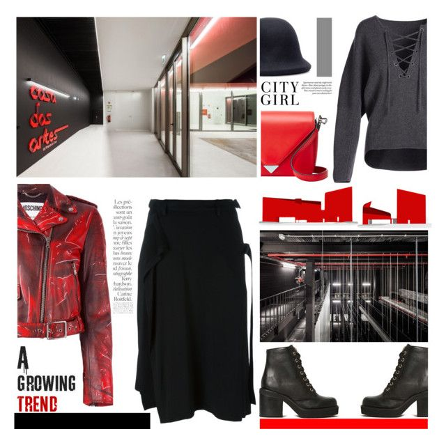 """""""Designing the Future"""" by snowbell ❤ liked on Polyvore featuring By Terry, Yohji Yamamoto, Moschino, Jeffrey Campbell, Alexander Wang and Vince"""