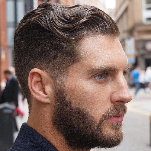 20 Trendy Slicked Back Hair Styles Curly Hair Styles Mens Hairstyles Pompadour Tapered Hair