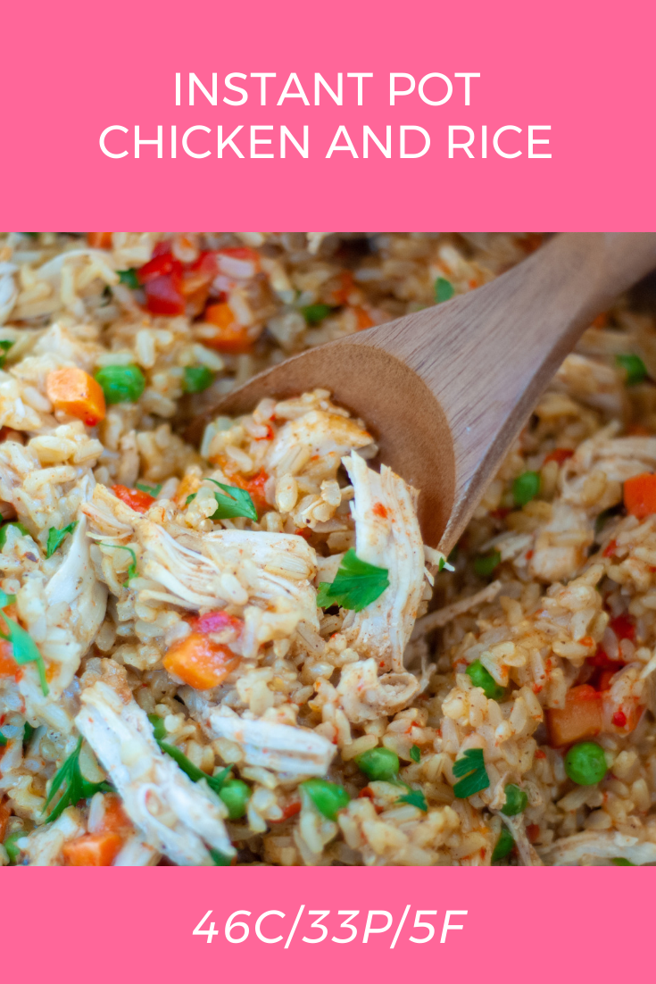 Instant Pot Chicken And Rice Recipe In 2020 Macro Friendly Recipes Macro Meals Instant Pot