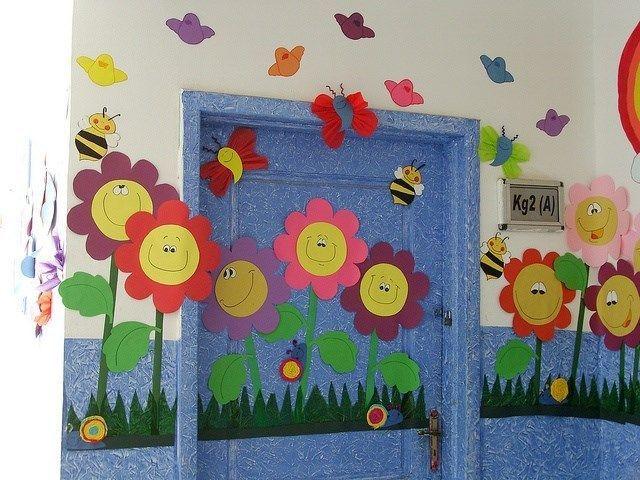 Relacionado manualidades pinterest primavera for Decoracion jardin maternal