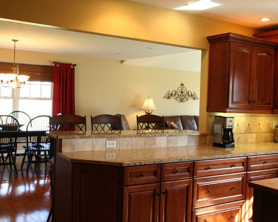 2 tier kitchen counter. Like it Even the counter color | Kitchen ...