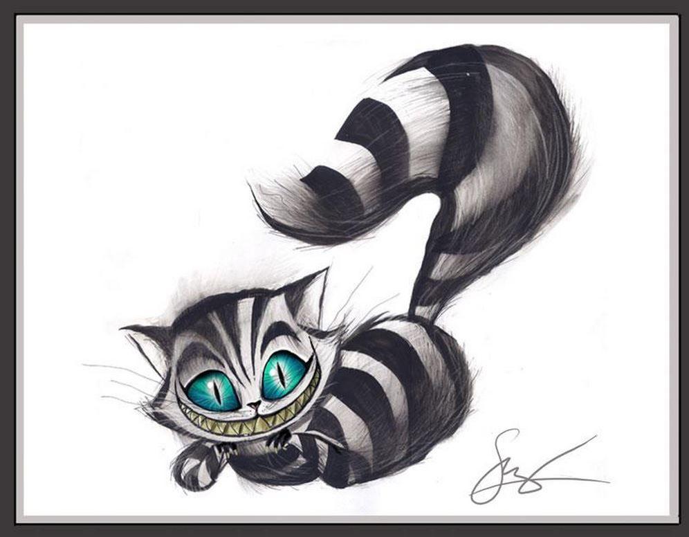 44+ Best Cheshire cat tattoo stencil image ideas