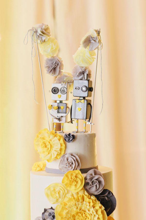 Geeky Brooklyn Wedding | Sweets | Pinterest | Robot cake, Wedding ...