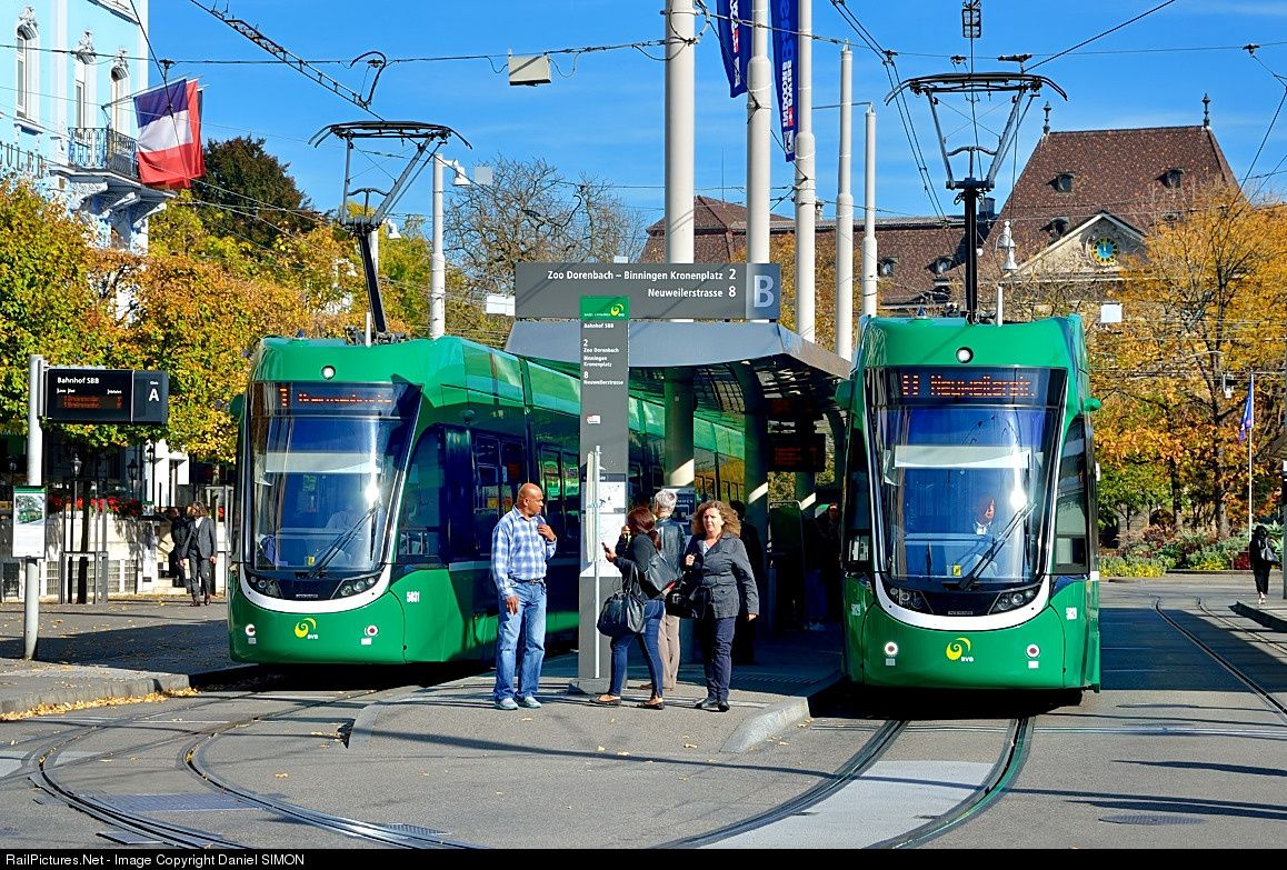 5031 Basler Verkehrs Betriebe Tramway Flexity At Basel Switzerland By Daniel Simon Basel Switzerland Public Transport