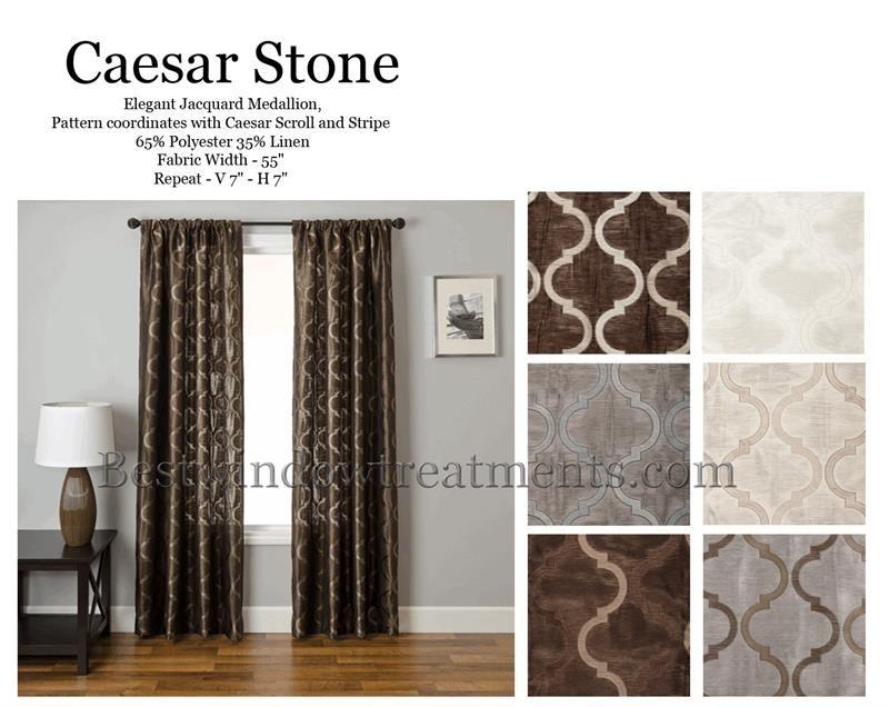 Caesar Stone Curtain Drapery Panels