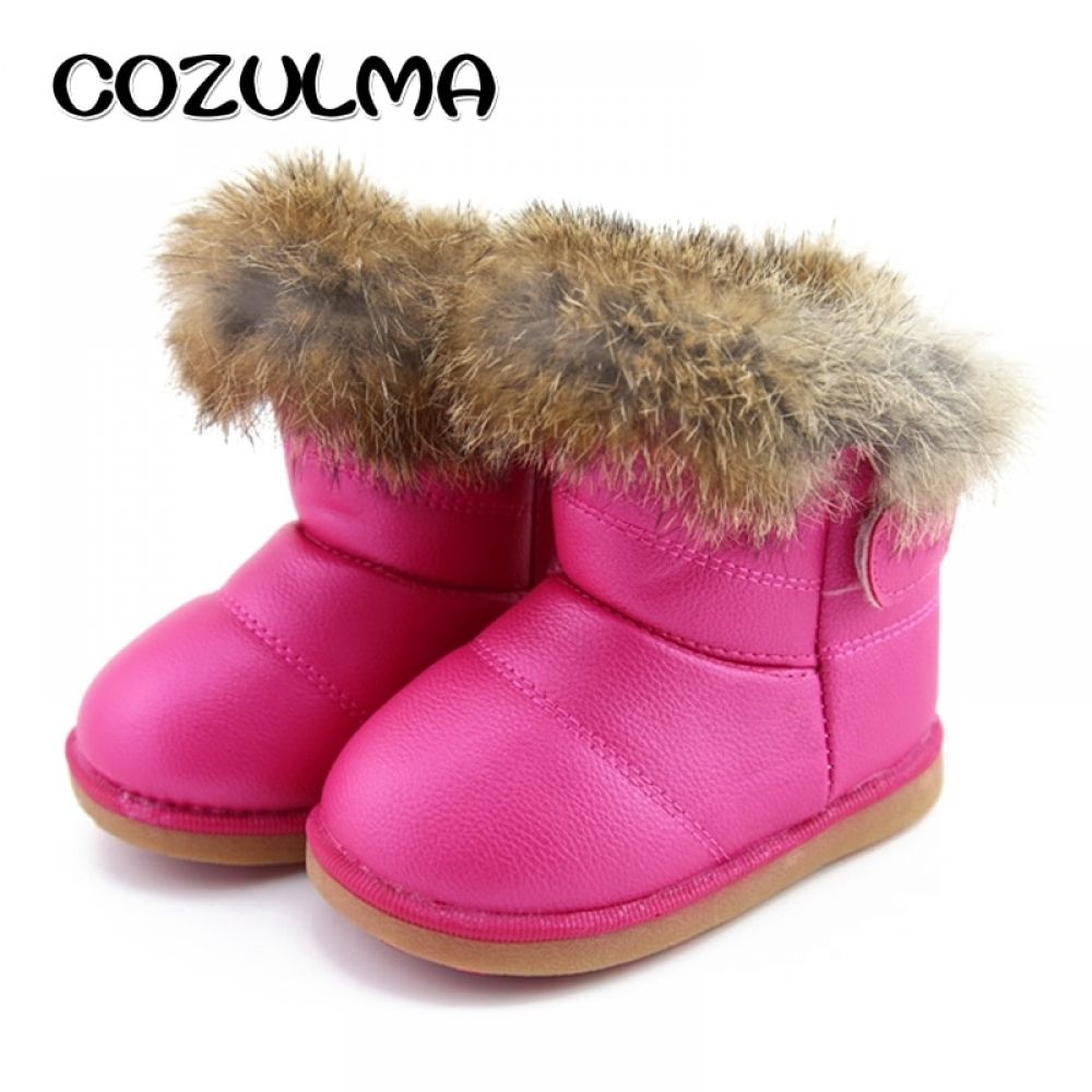 Girls Snow Boots Super Warm Plush Non-Slip Loop Leather Winter Ankle Boots  Price  18.14   FREE Shipping  hashtag3 883b98e486e5