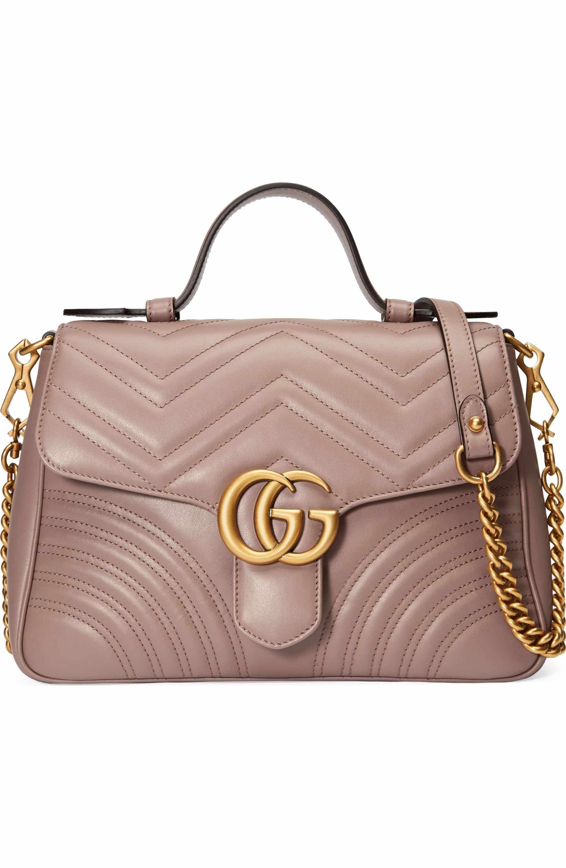717b1d3df283a2 Main Image - Gucci Small GG Marmont 2.0 Matelassé Leather Top Handle Bag