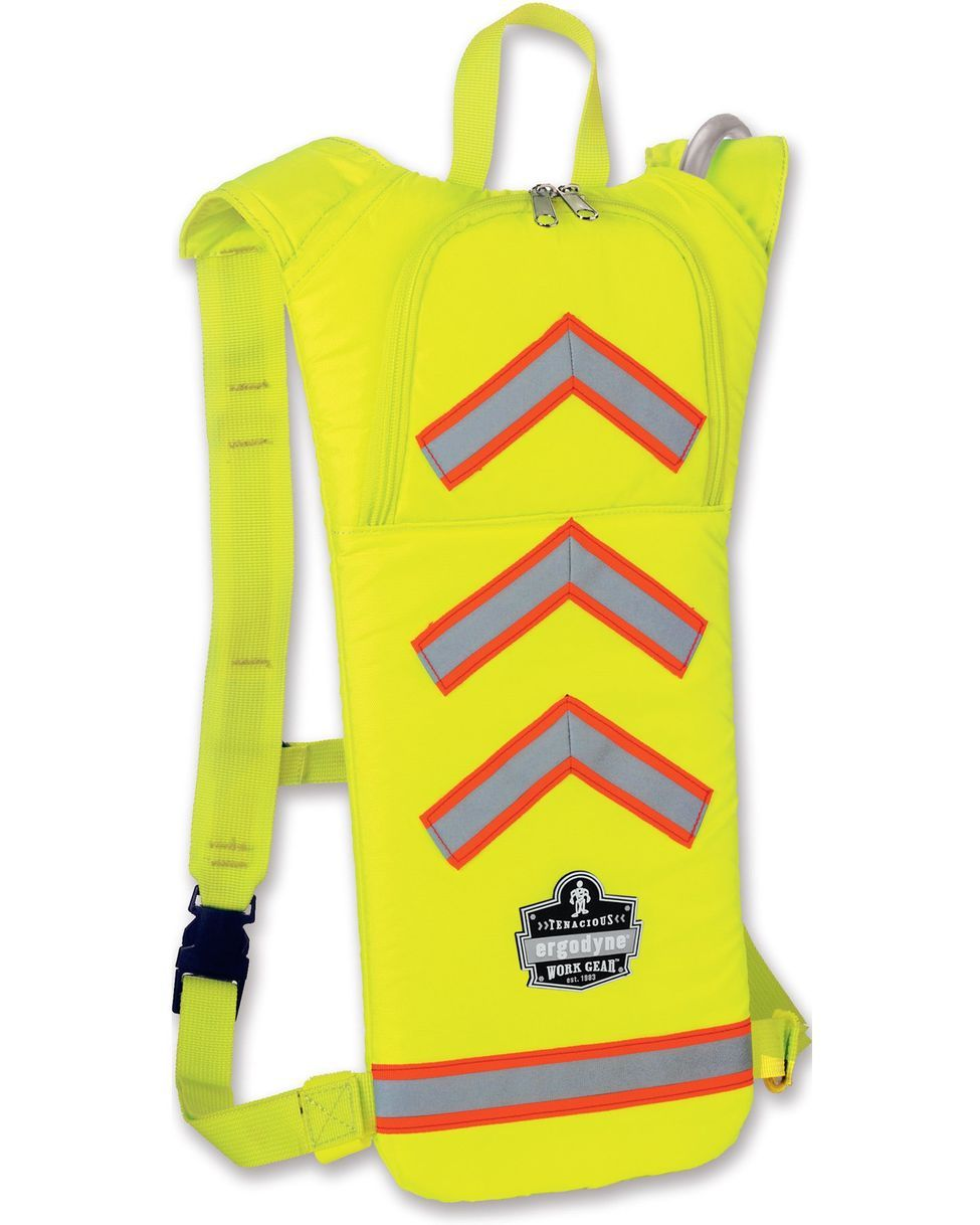 Chill Its Hi Vis Hydration Pack By Ergodyne Work Gear I D Take This Over A Camelbak Any Day Work Gear Cooling Vest Personal Protective Equipment