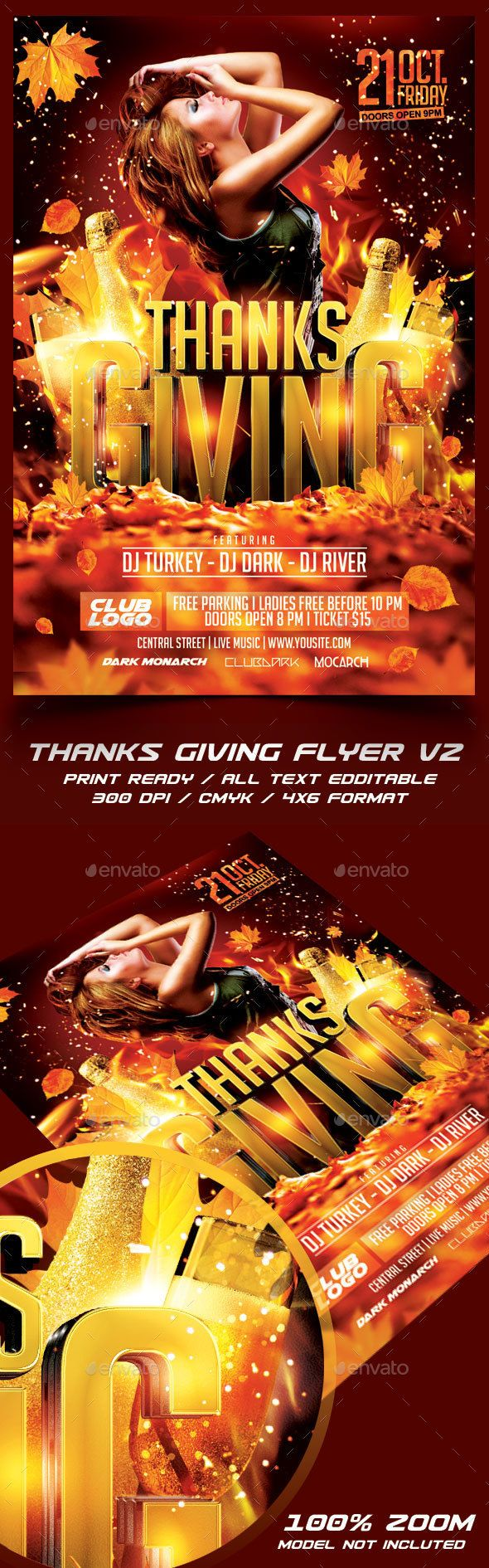 Thanksgiving Party Flyer Template Psd Design Download Http
